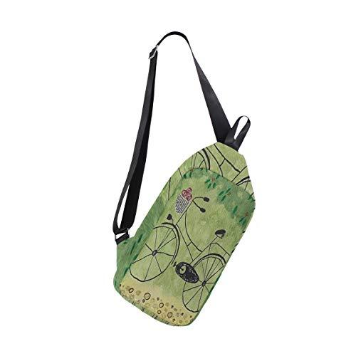 (SLHFPX Sling Bag BIKE Womens Chest Shoulder Backpacks Crossbody Outdoor Bag Pack)