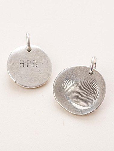 Custom silver fingerprint pendant kit
