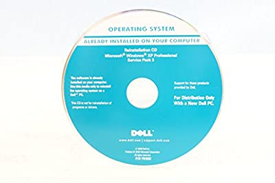 Dell Operating System Reinstallation CD Driver Microsoft Windows XP Professional + Service Pack 3 PC Software Program Installation Disc Year 2009 Part Number YH3KD