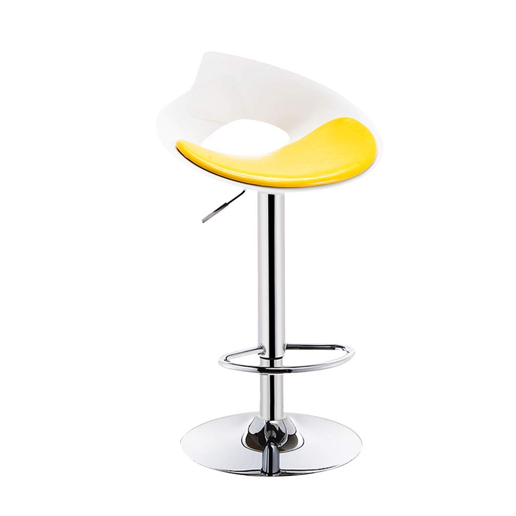 B Bar Chair High Foot Makeup Beauty Stool Leisure Swivel Front Desk Reception Seat Can Be Lifted Non-Slip for Coffee Shop (color   D)