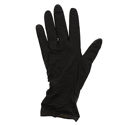 AmerCare Black Widow Powder Free, Nitrile Gloves, Extra Large, Case of -