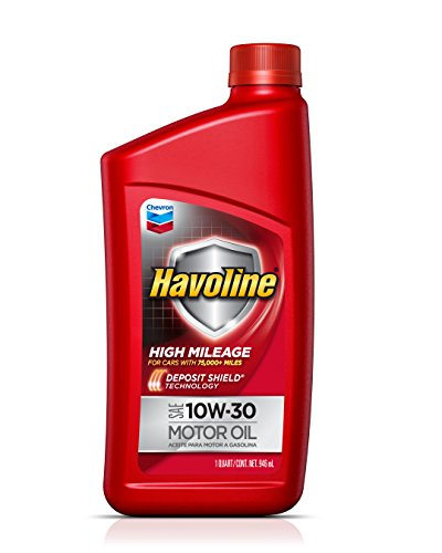 HAVOLINE 10W30 High Mileage with Deposit Shield Technology, 1 Quart, 1 Pack ()