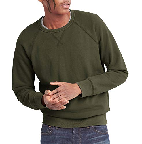 (Ma Croix Mens French Terry Crewneck Sweatshirt (Medium, 1hc18_Military Green))