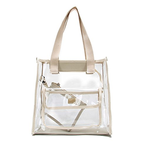 Clear Bag Set Tote and Pouch Combo - 12