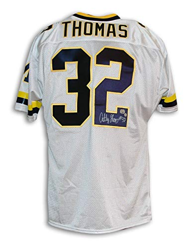 Anthony Thomas Michigan Wolverines Autographed Throwback Jersey - Certified Authentic Signature