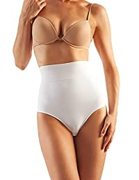 Farmacell Shape Cotton 610 (White, XL) High-Waisted Shaping Control Briefs with Flat Belly Effect