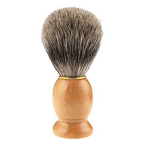 ACEVIVI Premium Shaving Brush Burlywood Handle with PVC Packing - Classic Vintage Style Barber (Premium Pvc)
