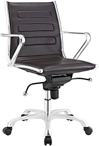 Modway Ascend Faux Leather Adjustable Swivel Office Chair
