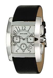 Pierre cardin PC101271F03 - Reloj cronógrafo de caballero de cuarzo con correa de piel negra (cronómetro) - sumergible a 30 metros