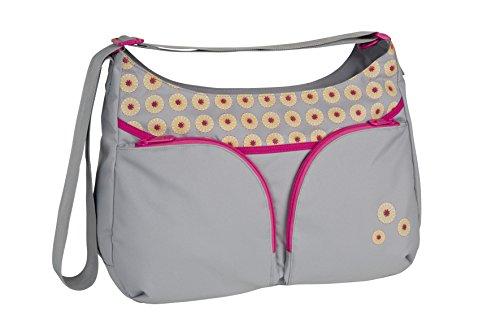 Lässig, la bolsa de la bolsa de pañales del hombro básico, nuevo diseño, Gray (Daisy medio gris)