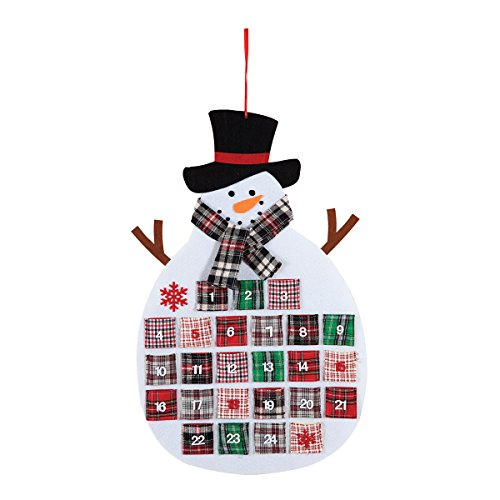 C&F Home Plaid Snowman Calendar 28