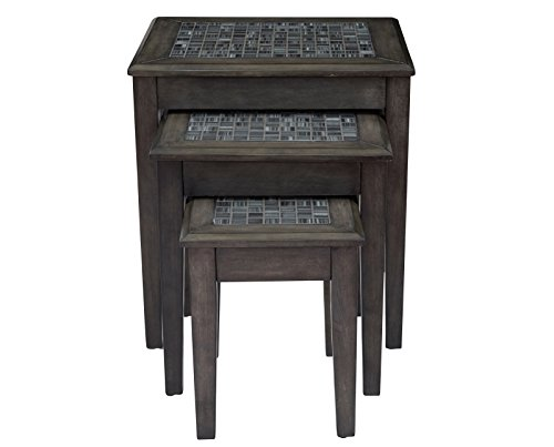 Jofran 3-Pc Nesting Table Set in Gray Finish by Jofran