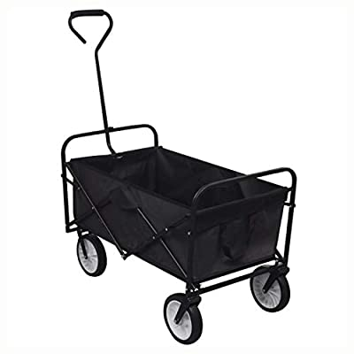 K&A Company Dolly & Hand Truck, Black Foldable Garden Trolley