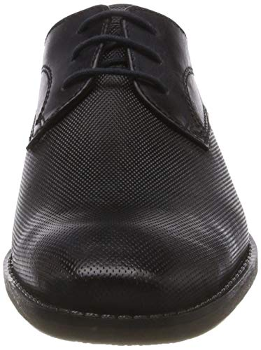 11 Negro black Bugatti De Cordones Hombre Para 1010 Zapatos Black 1323e Derby 3 vEFqEz
