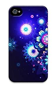 Diy iPhone 6 plus 3D Hard Plastic Case for iPhone 6 plus 4G,Neon Flower Case Back Cover for iPhone 6 plus
