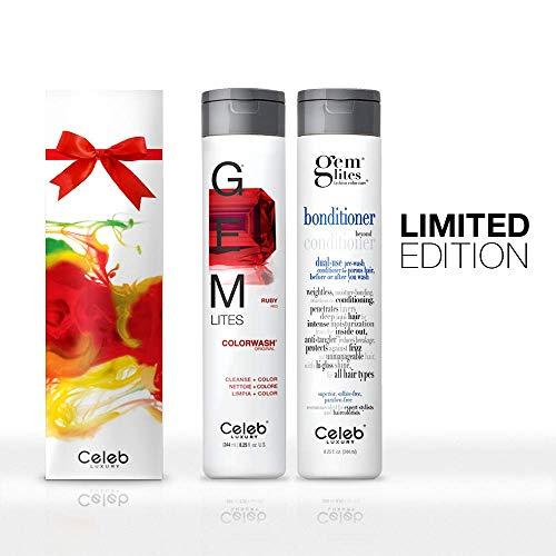 (Celeb Luxury Gem Lites Ruby Colorwash and Bonditioner Gift Set, Limited Edition )