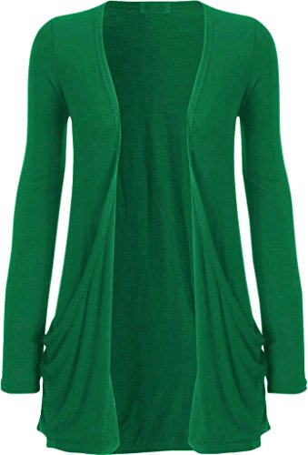 YFRIEND WITH POCKET CARDIGANS SWEATER JADE GREEN US 16/18 (Pocket Jade Green)