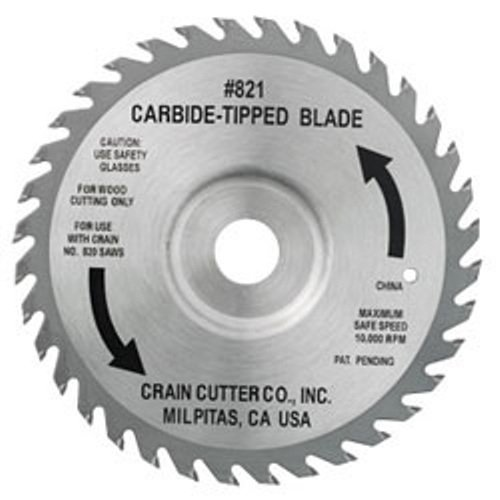 Crain Cutter 821C 6-1/2-Inch 40 Tooth Wood Saw Blade for 812,820 and 825 Super Saw by Crain Cutter