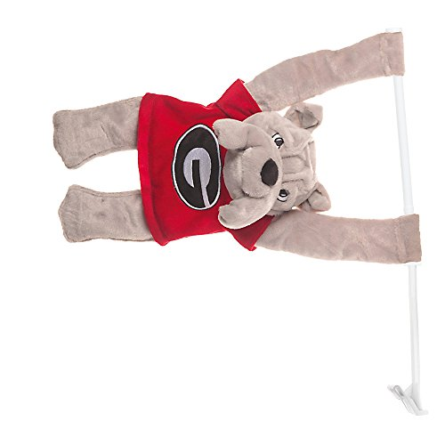 NCAA 3D Mascot Car Flag (Georgia (Georgia Bulldogs Ncaa Car Flag)