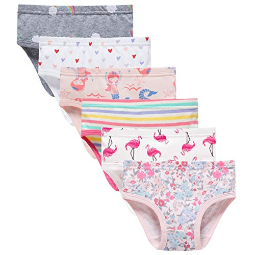 Sladatona Little Girls' Soft Cotton Underwear Bring Cool, Breathable Comfort Experience Panty - Soft Underwear Girls