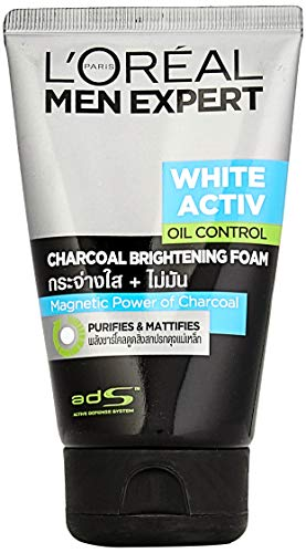L'oreal Men Expert White Activ Anti Spots Oil Control Charcoal Foam 100ml
