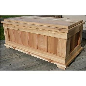 Merveilleux Deck Box Storage Bench,20 Gal,Cedar,Durable,Brown
