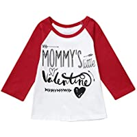 Jshuang(18M-4Y) Toddler Baby Boys Girls Valentine's Day Letter Printed Tops T-Shirt Clothes