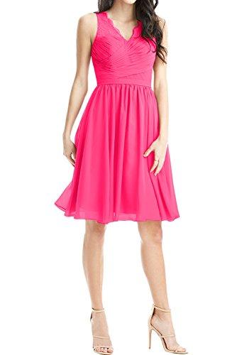Ivydressing - Vestido - trapecio - para mujer rosa oscuro