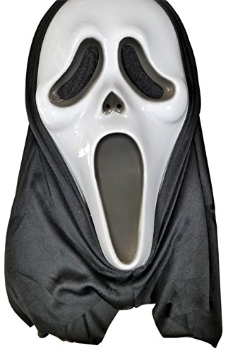 [Ghost Face Halloween Mask - Adult ages 15+. 1 piece] (Ghost Face Mask)