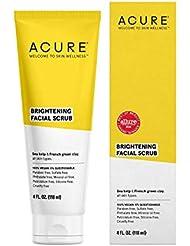 Acure Organics Brightening Facial Scrub Sea Kelp plus Chlorella Growth Factor -- 4 oz - 3PC