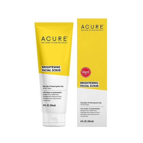ACURE Brightening Facial Scrub, 4 Ounce (Natural Face Wash)