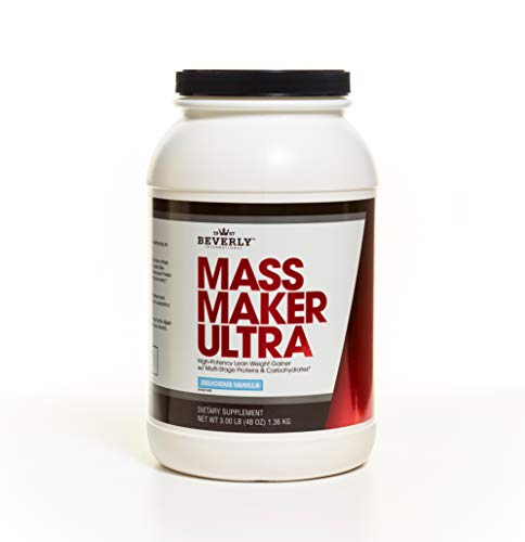 Beverly International Mass Maker Ultra Vanilla, 14 servings. Strongmen and mass monsters swear by this lean weight gainer.
