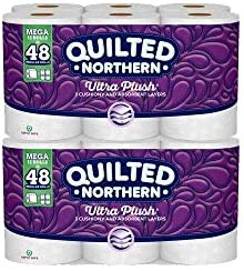 Quilted-Northern Ultra Plush Bath Tissue, 12 Mega Rolls Toilet Paper, Pack of two