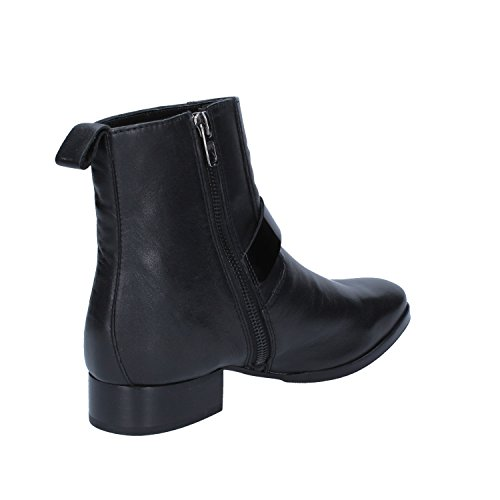 Ankle Braccialini 36 Leather Black EU Womens Boots vAwxqOABCd