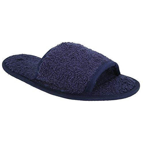 Unisex Slippers Open Towel Navy City Classic Toe Terry wv7wEzIB