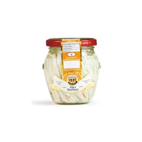 Agostino Recca - Italian White Anchovies, 7 Ounce. Jar