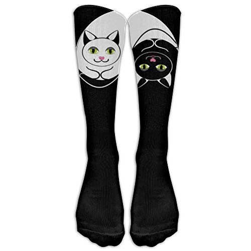 Price comparison product image Crew Yin Yang Cat Unisex Tube Socks Knee High Sports Crew Fashion Novelty Crew Fashion Novelty Socks Underwear Tube Socks Knee High Sports