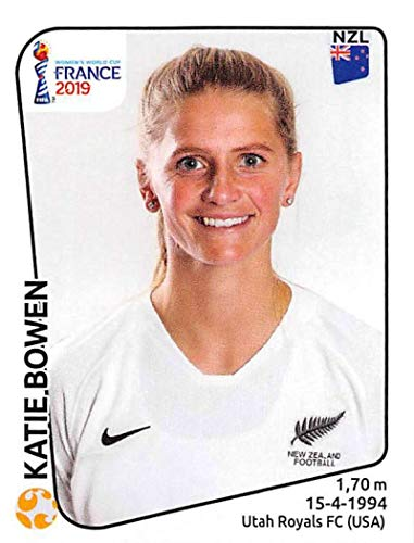 Stickers 378 - 2019 Panini FIFA Women's World Cup France Album Stickers Soccer #378 Katie Bowen New Zealand 2 Inch by 2 1/2 Inch Collectible Sticker