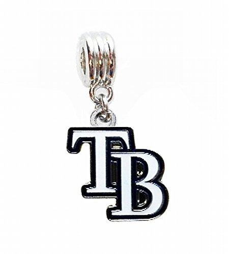 RAYS BASEBALL TEAM CHARM PENDANT FOR NECKLACE EUROPEAN CHARM BRACELET (Fits Most Name Brands) DIY ETC