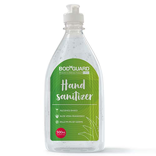 BodyGuard Alcohol Based Hand Sanitizer with Aloe Vera - 500 ml with Enriched Tea Tree Oil and Vitamin E (B086XRF927) Amazon Price History, Amazon Price Tracker