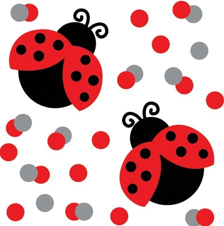 Ladybug Fancy Confetti Party Accessory, Health Care Stuffs