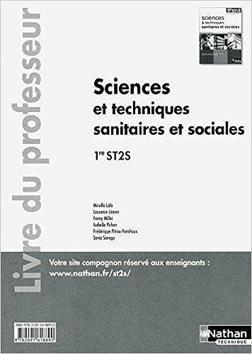 Lire en ligne Sciences et techniques sanitaires et sociales - 1re ST2S - livre du professeur pdf, epub