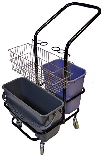 Micro Trolley - Golden Star T4216 Janitor Microfiber Trolley, 4 Wheel