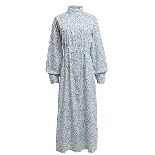 GRACEART Pioneer Women Costume Prairie Dress Floral (Pure Cotton) X-Large -