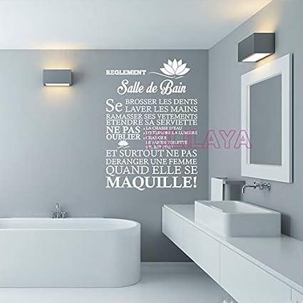 Se laver les mains 2 salle de bain vinyle Wall Art Decal Décoration ...