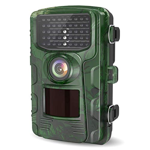 Letscom Trail Game Camera 14mp Ip65 Waterproof Wildlife Scouting Hunting Cams 0 4s Trigger Speed 42 Low Glow Ir Leds 120 Wide Angle Green