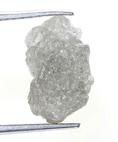 Kakadiya Group Pretty White Color 3.35 Ct. Earth Mined Raw Uncut Rough Loose Natural Diamond