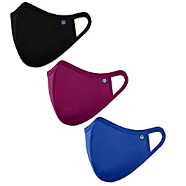 OCEAN RACE Cotton Lycra Stretchable 3 Layer Reusable Face Mask