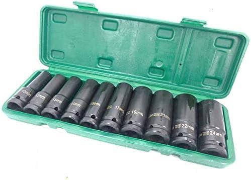 1//2inch Deep Impact Socket Set 1//2 Drive Long Reach Thin Wall 10 Metric Sockets 10-24mm