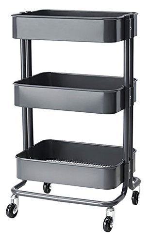 Royal Wagon Home Kitchen Bedroom Garden Storage Utility Rolling Organization on Wheels Cart (Gray)